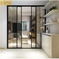 墨高门窗供应简约全景16极窄边推拉门铝材配件