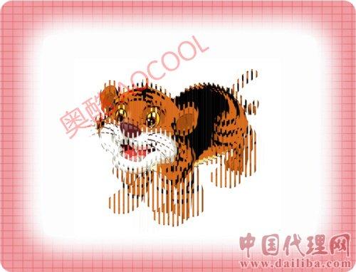 招代理经销-魔法电影卡,2012最火爆的新奇认知卡,小老虎会在纸上爬!