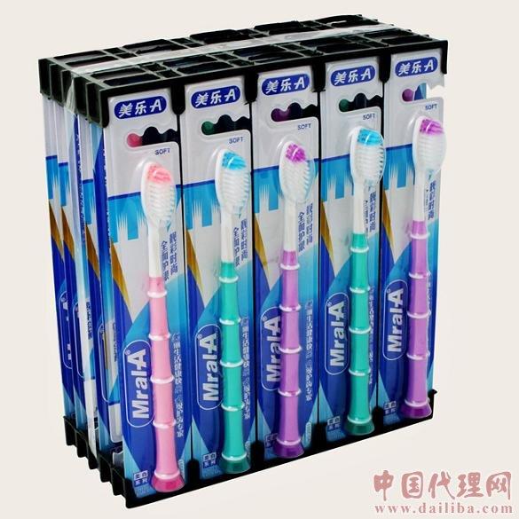 厂家直销成人牙刷美乐A直卡经典竹节按摩型-1 2001